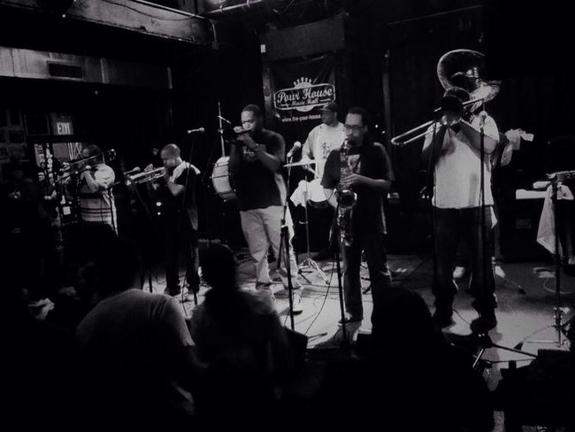 Rebirth Brass Band. Music Awesome Performance IPhoneography Blackandwhite