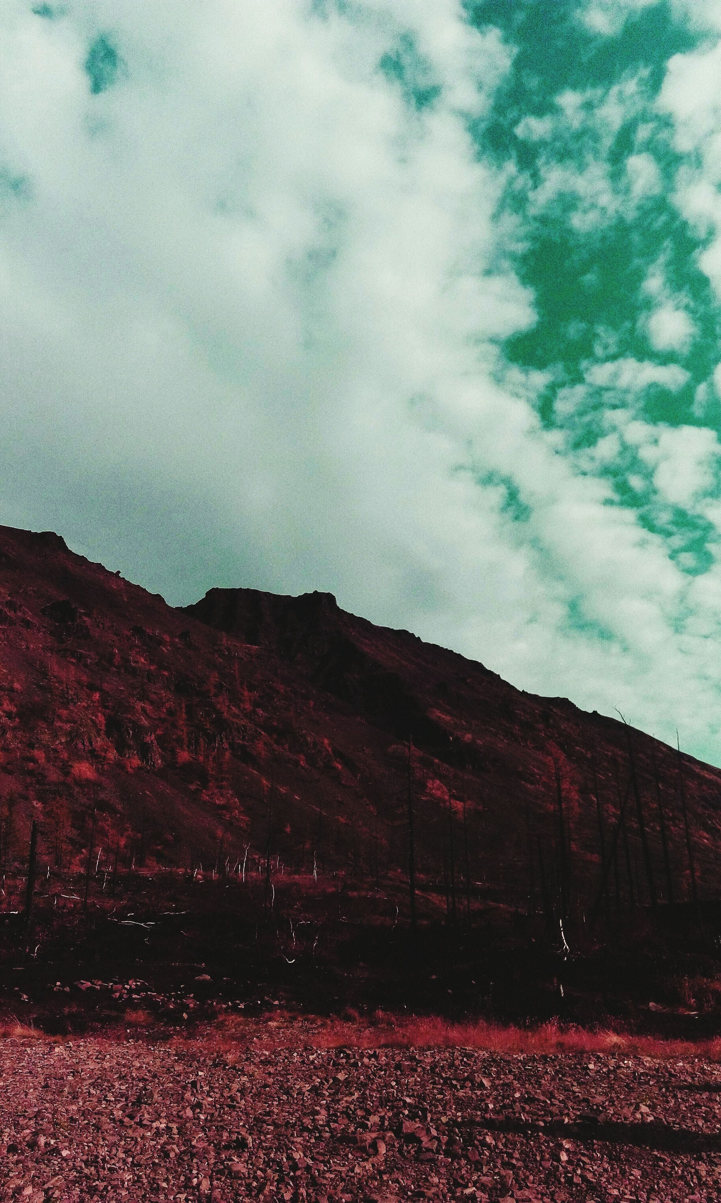red, sky, nature, no people, outdoors, landscape, day