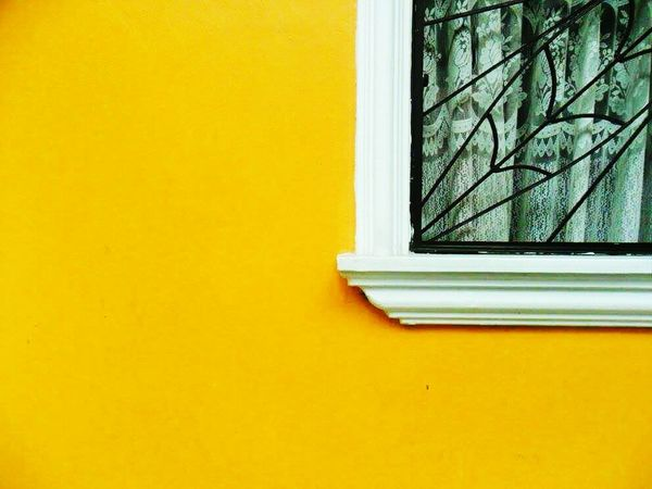 Minimalism Minimal Minimalmood Minimalobsession Minimalism Photography Minimalover Minimalexperience Yellow Window Built Structure Architecture House Indoors  Security Bar Close-up Day Residential Building