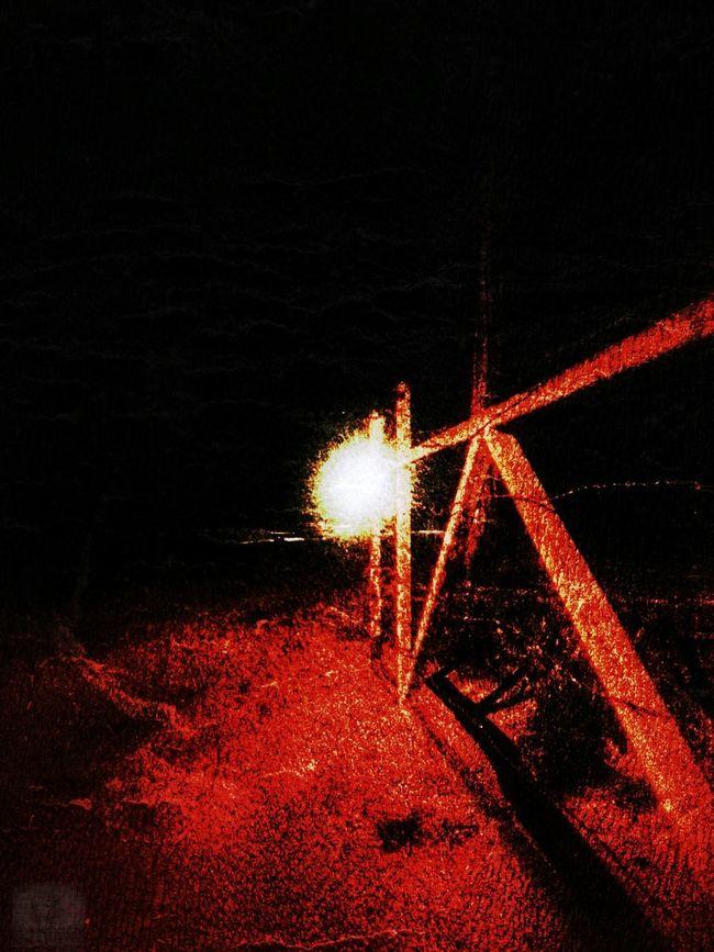 Wondering around AtNight, Twisted Dream Lonley Road Red DarknessIntoLight Taking Photos DaveyBlackheart Feeling The Darkness