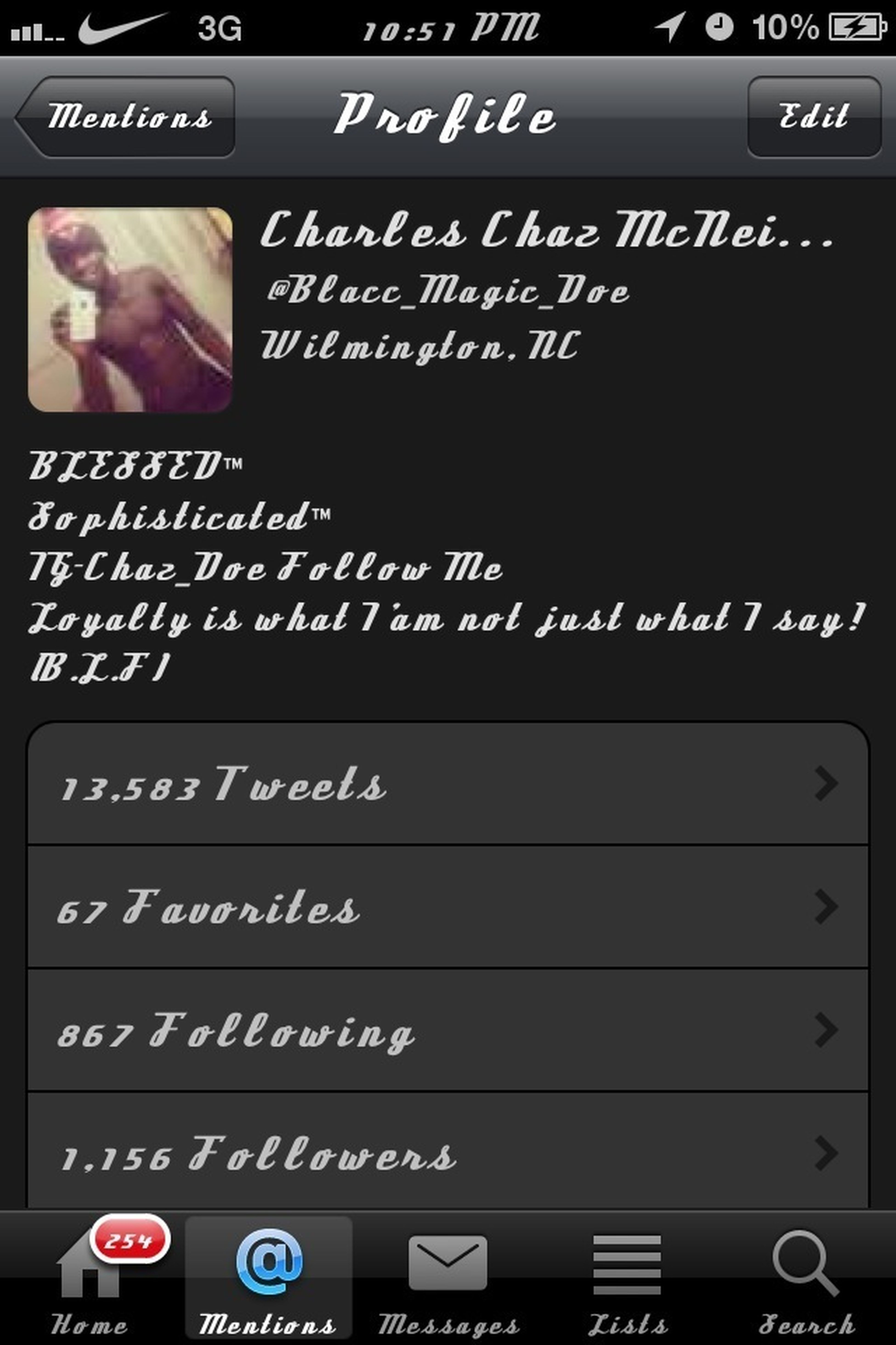 Follow Me On Twitter @blacc_magic_doe