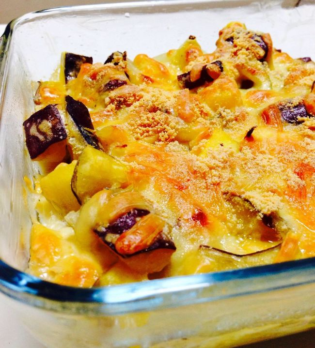 Cooking Dinner Yummy Sweet Potato Gratin