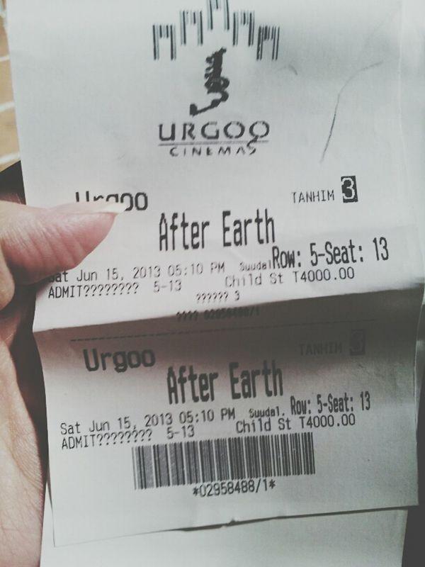 after earth.. will smith jaden smith. it was a nice movie! enjoy! Cinema Watching A Movie Jaden Smith Will Smith