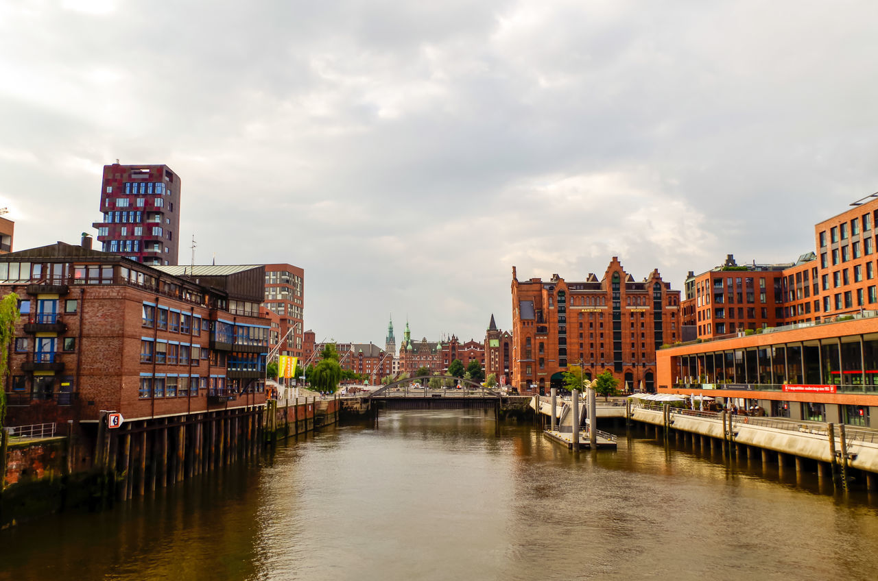EyeEm Selects Water Architecture Cloud - Sky Reflection Building Exterior Outdoors City Cityscape No People Sky Day Urban Skyline Hamburg Hafencity Speicherstadt Germany