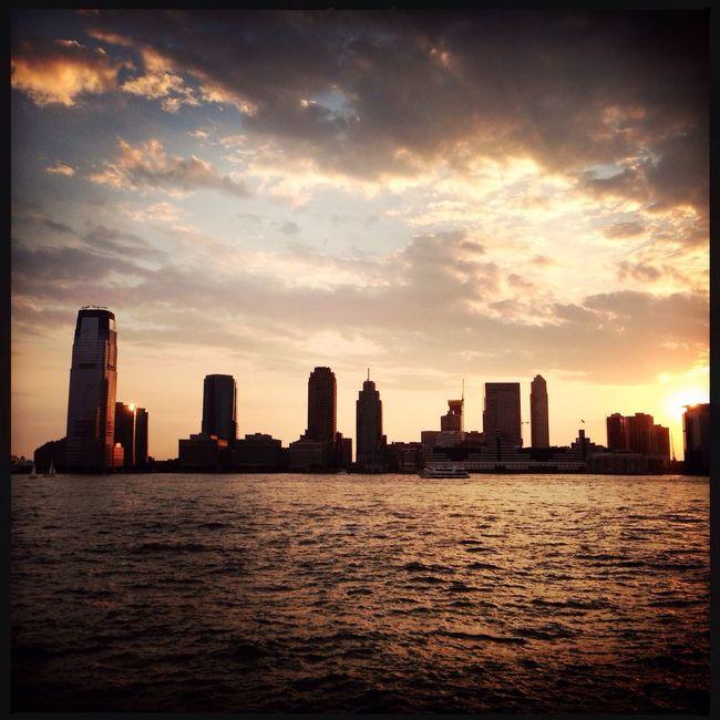 NYCHarbor ChillTownSkyline Sunset Herman Velez