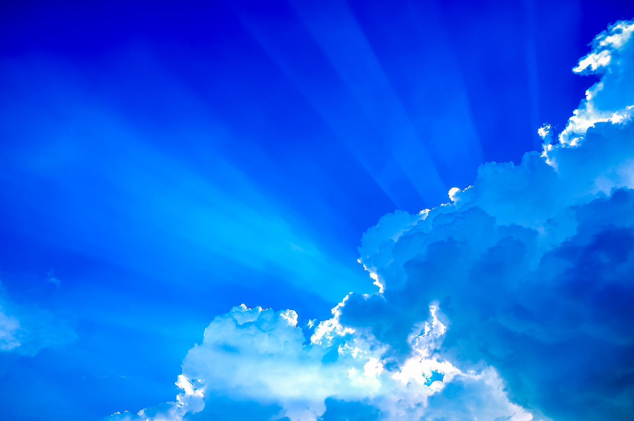 Backgrounds Beauty In Nature Blue Cloud - Sky Coral Island,Thailand Kho Hey Low Angle View Majestic Outdoors Phuket Sky Sunbeam Sunny Thailand Vapor Trail