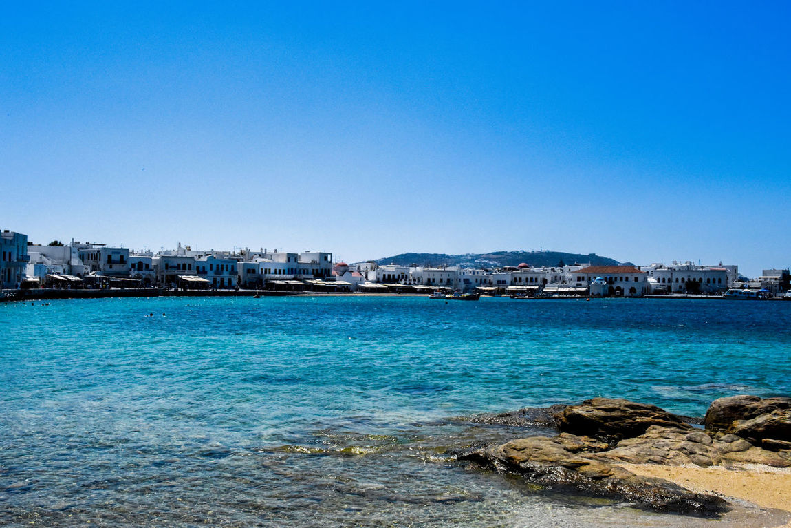 Harbor Mykonos,Greece Architecture Beauty In Nature Blue Blue Water Blue Water Blue Sky Building Exterior Built Structure Clear Sky Day Go-west-photography.com Greece Harbor View Kyklades Kyklades Islands Mykonos Nature Outdoors Residential Building Sea Sky Travel Destinations Water White Houses