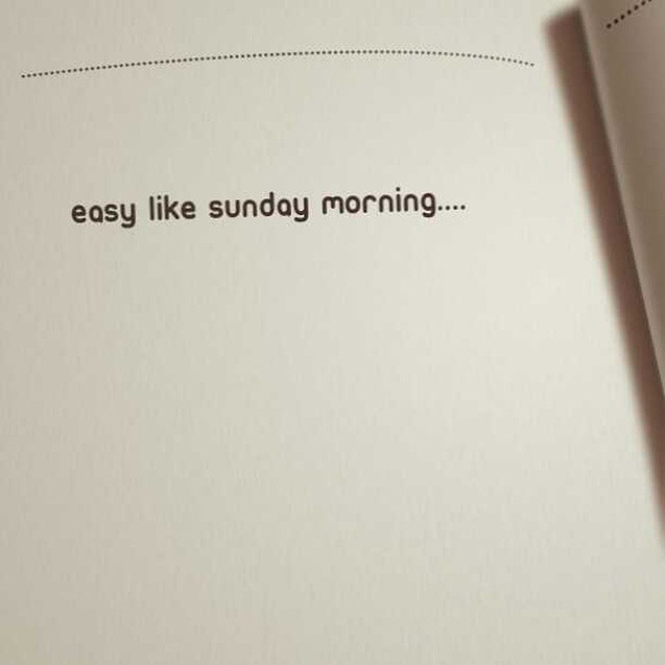 Easylikesundaymorning