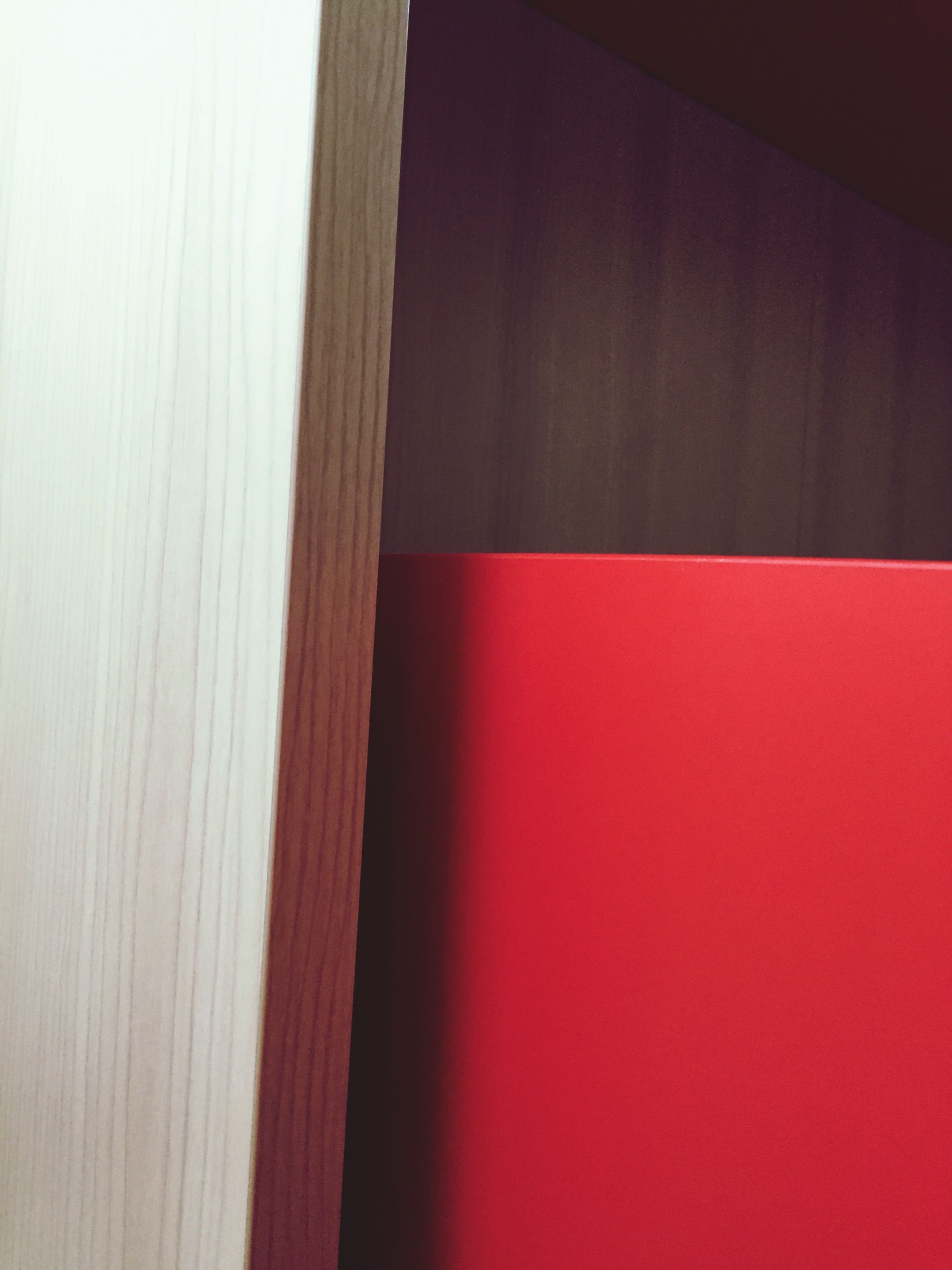 indoors, red, wall - building feature, wall, wood - material, built structure, door, home interior, copy space, curtain, architecture, closed, no people, house, close-up, wooden, simplicity, window, shadow, pattern
