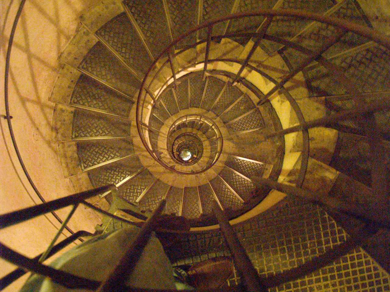 spiral, staircase, steps and staircases, steps, railing, architecture, spiral stairs, built structure, high angle view, stairs, no people, day