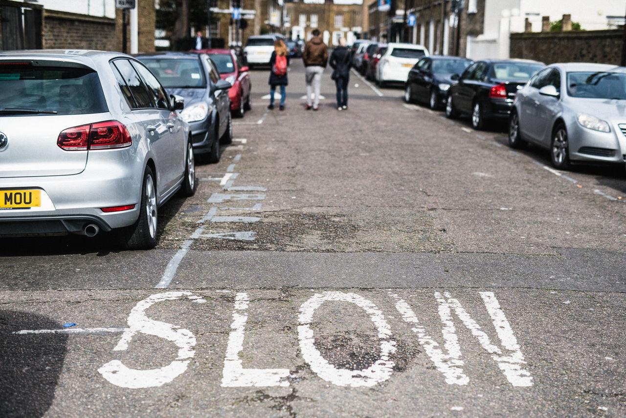 City Outdoors Road Slow Street Traffic