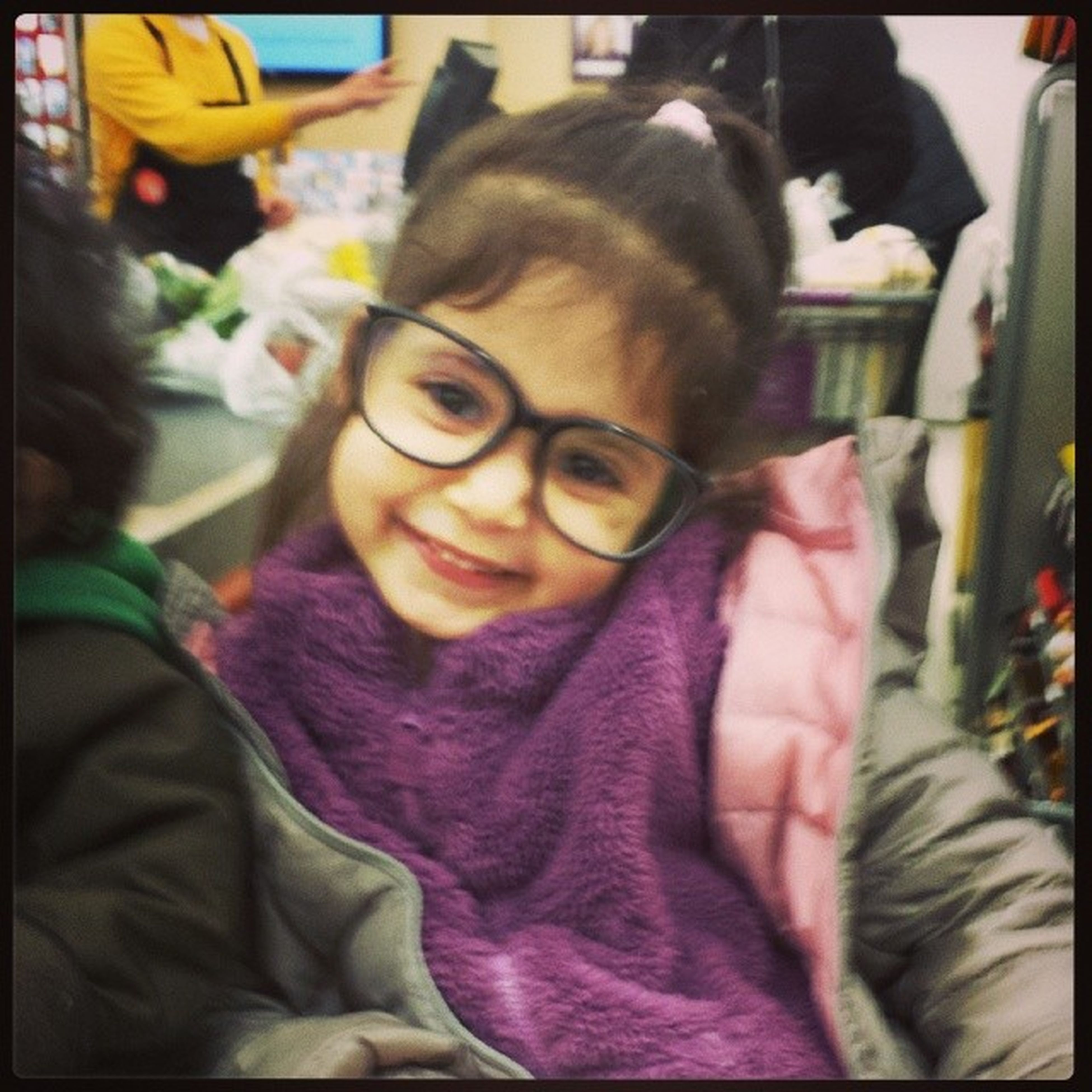 My little brain wearing my hipster frames Sophia Familyfirst Love Miraclebabies