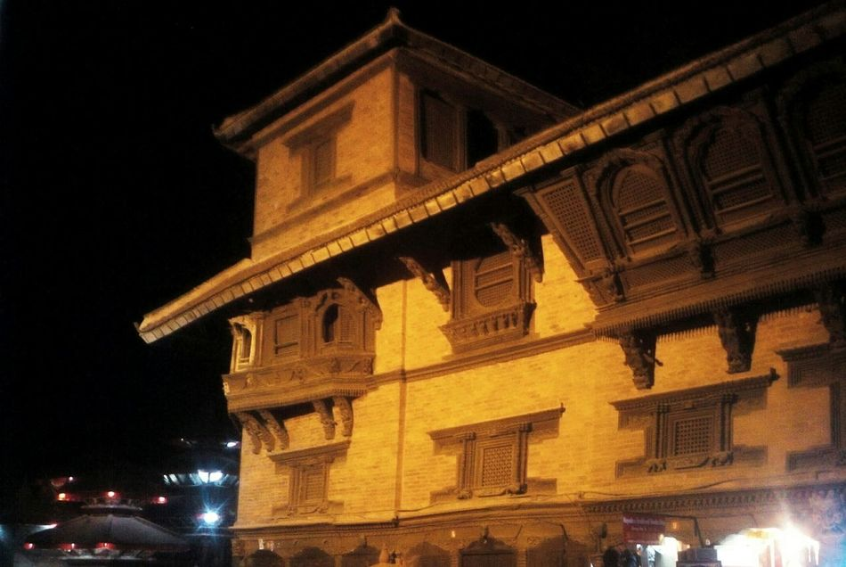 Basantapur Durbar Square Night Photography Night Lights Mobilephotography First Eyeem Photo Temple