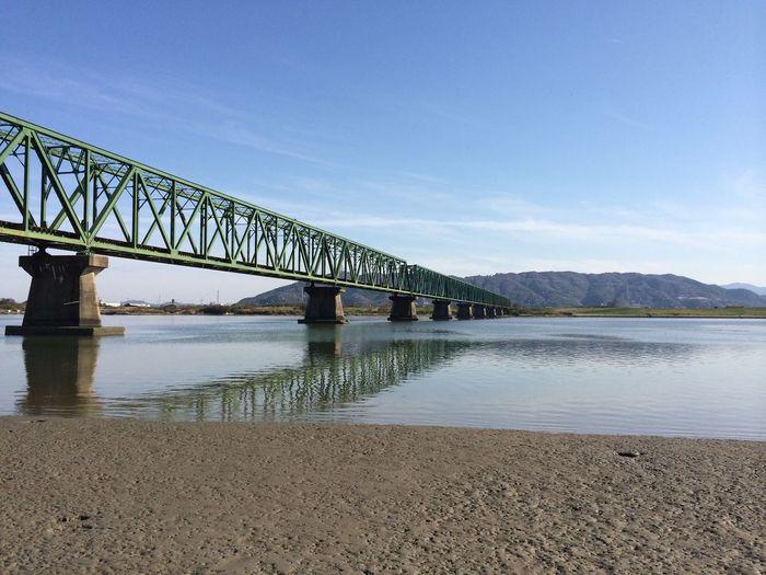 吉野川と鉄橋。iPhone5s no edit iPhoneのカメラって優秀だなぁと、つくづく思った一枚 徳島県 IPhoneography Landscape