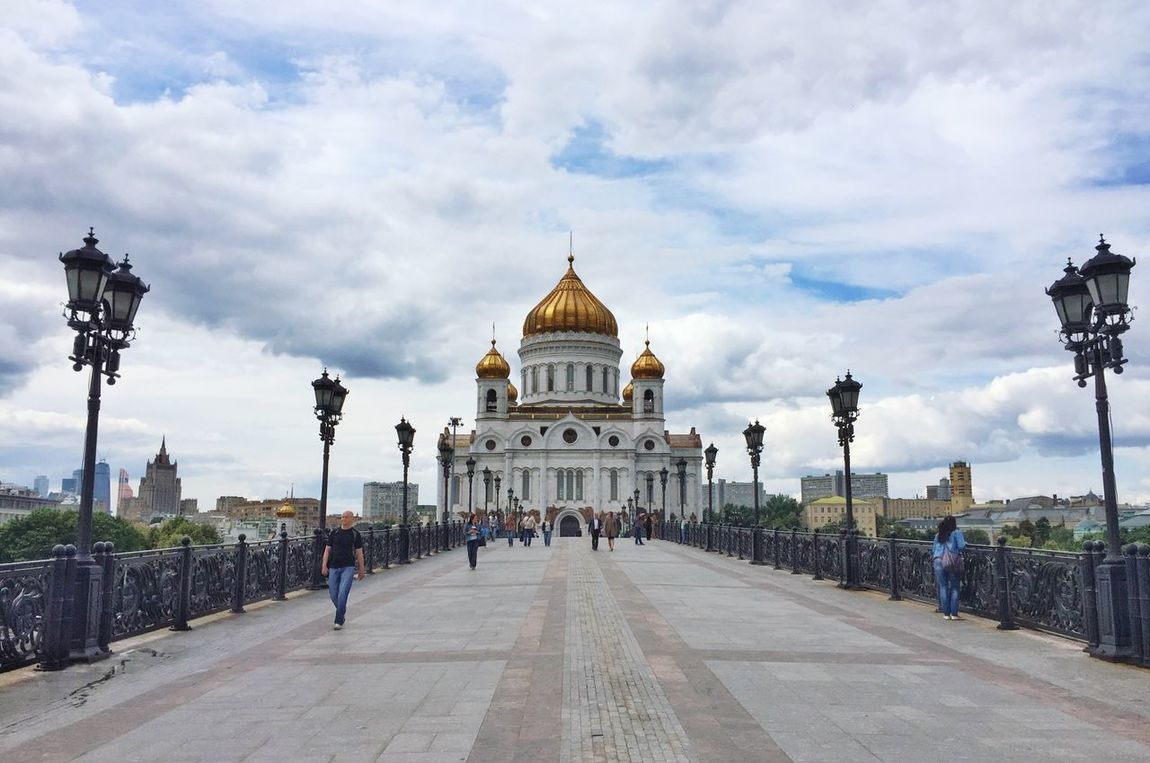 Christ the Savior Cathedral from Patriarshiy Bridge in Moscow Traveling Rus2015tc Architecture Streetphotography Church