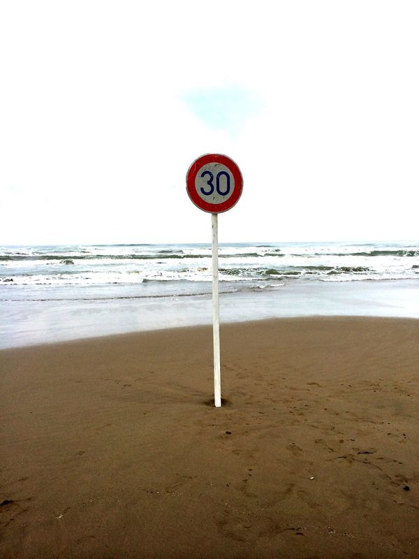 Beach Sea Wave Water Sky Nature road 道路 道 標識 30k First Eyeem Photo