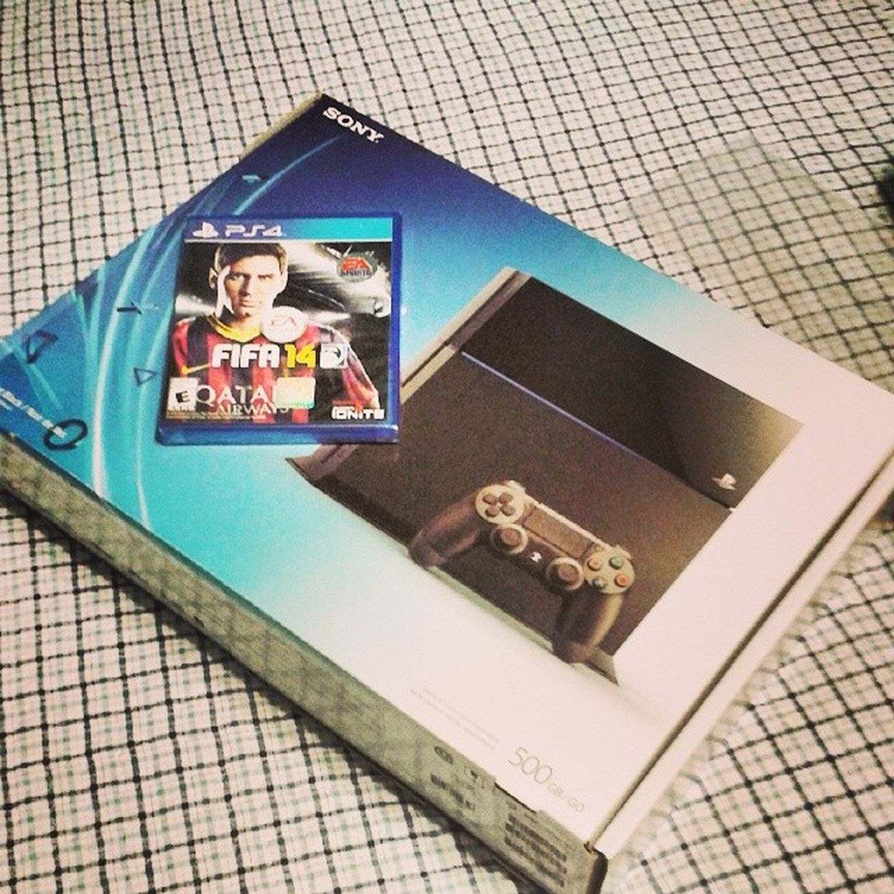 Haha I'm going to be killing everyone in every game Comment your gamer tag Imhype LetsGetIt PS4 Playstation4 brandnew gamerlife imgoingto killit fifa14 2014 worldcup represent soccer brasil birthdaypresent frommommy thanksmommy yourethebest