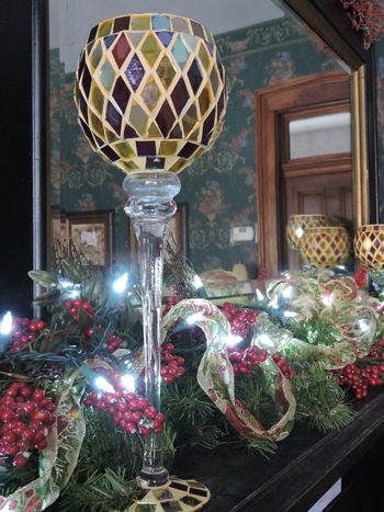 Architecture Celebration Christmas Christmas Decoration Christmas Lights!  Christmas Ornament Christmas Tree Day Goblets Illuminated Indoors  Multi Colored No People Reflections ☀ Ribbons Tradition Tree