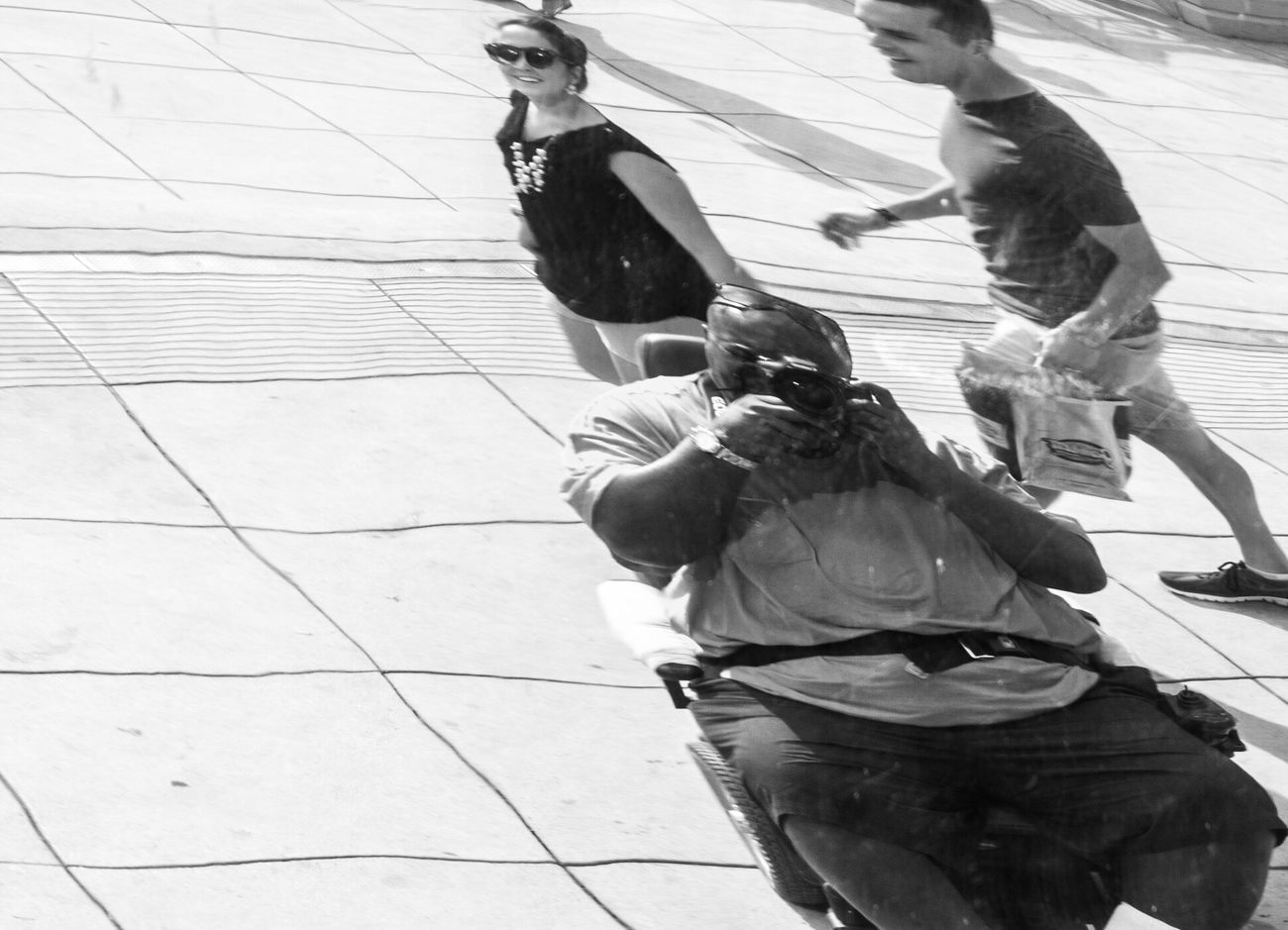 Self portrait Real People Leisure Activity Outdoors Men The Bean In Chicagp Reflection Scenics B&w Street Photography Black & White