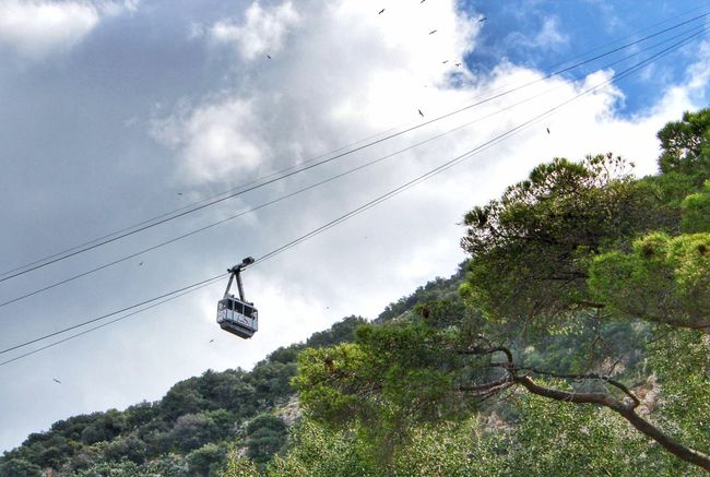 Blue Sky And Cloud Blue Sky And Clouds Cable Cable Car Cable Car Ride Cable Car Tracks Cable Car View Cable Car. Cable Cars Cloud Cloud - Sky Cloudy Gibraltar Gibraltar Cable Car Gibraltar Is British Gibraltar Landscape Gibraltar Rock Gibraltarrock Gibraltarview Low Angle View No People Outdoors Overhead Cable Car Scenics Tree