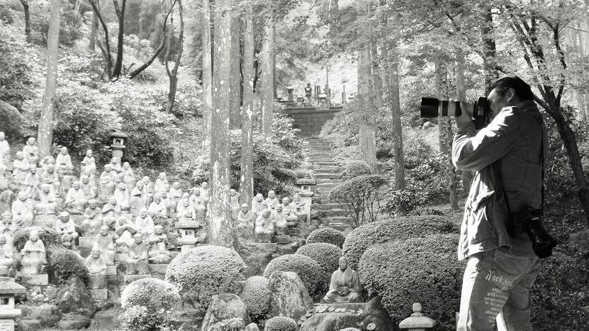 いつも、撮ってる間は静寂。 Black&white Temple Relaxing Calming Silence Taking Photos Japan あとは頼んだ B&W Portrait オレ様💕