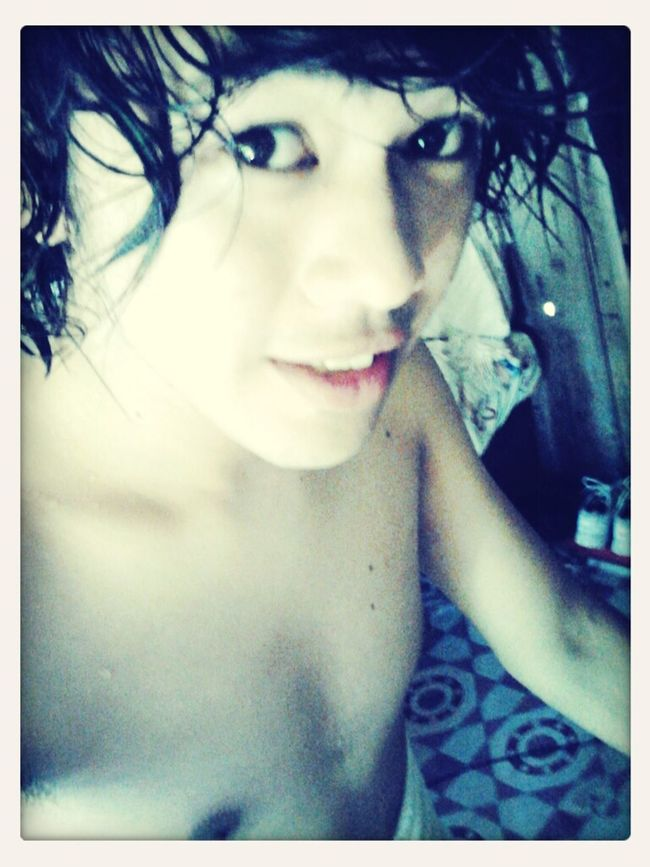 just done taking my bath... going sa town..