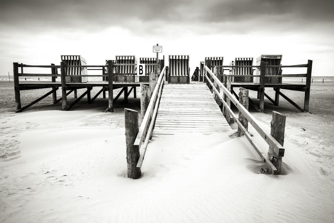 Nordsee Day Ording Bnw Outdoors Beach No People Blackandwhite Photography St. Peter Ording