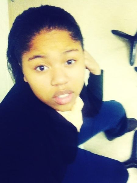 In the drum room chilling before band practice. !