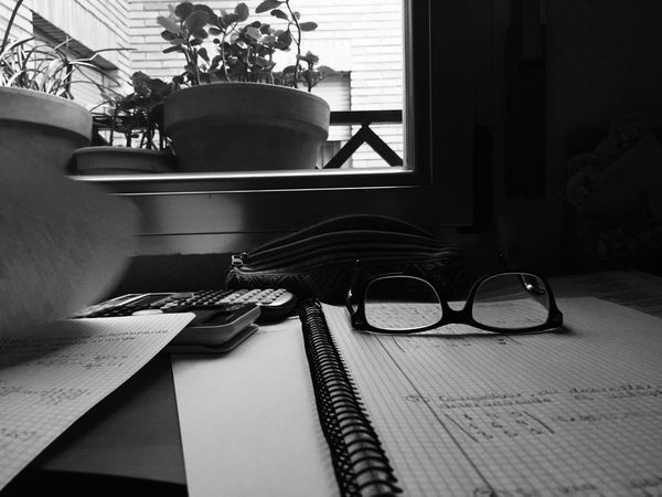 Indoors  No People Eyeglasses  Book Table Day Studying