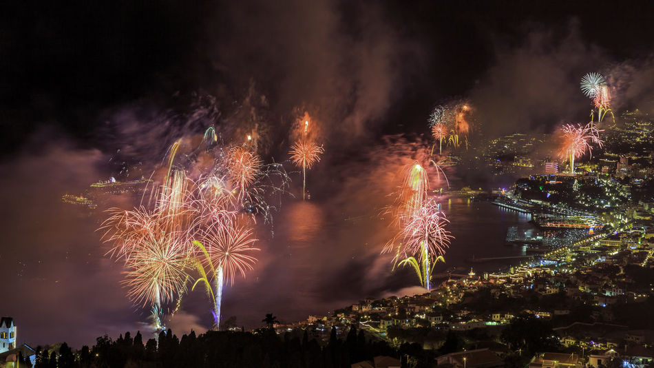 """Atmosphere Atmospheric Mood Cloud Cloud - Sky Cloudscape Cloudy Dramatic Sky Funchal Funchal Madeira Glowing Madeira Island Majestic Moody Sky Orange Color Outdoors Scenics Silhouette Sky Storm Cloud Sun Sunset Tranquility """"New Year Around The World"""" Cities At Night"""