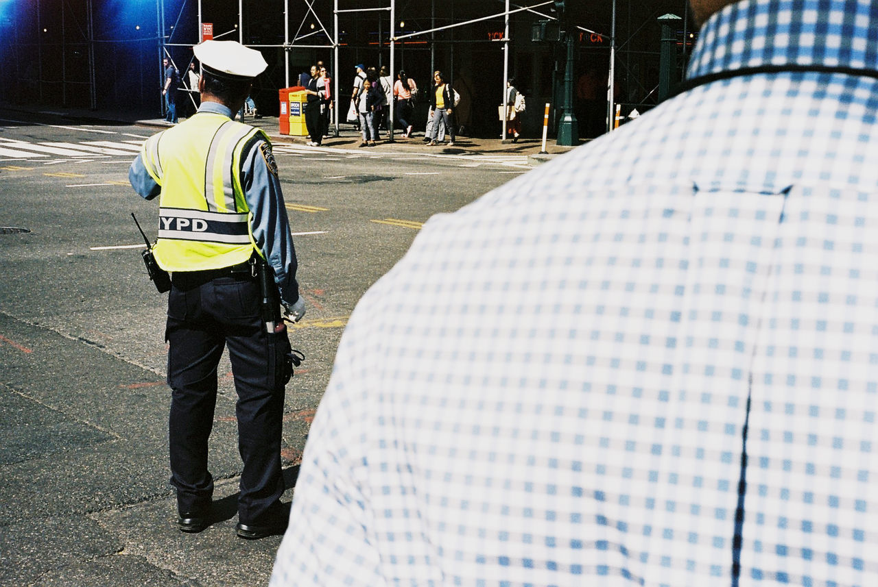 NYC cliché of a cliché City Life Police Real People Standing Street Photography Streets Of New York