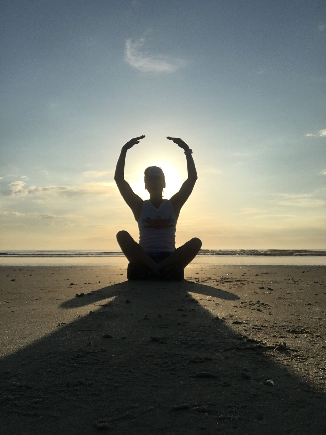 Yoga on the beach Balance Beach Cross-legged Exercising Healthy Lifestyle Horizon Over Water Lifestyles Lotus Position Meditating Nature One Person Practicing Relaxation Exercise Sand Scenics Sea Shore Sky Sunset Tranquil Scene Tranquility Water Wellbeing Yoga Zen-like