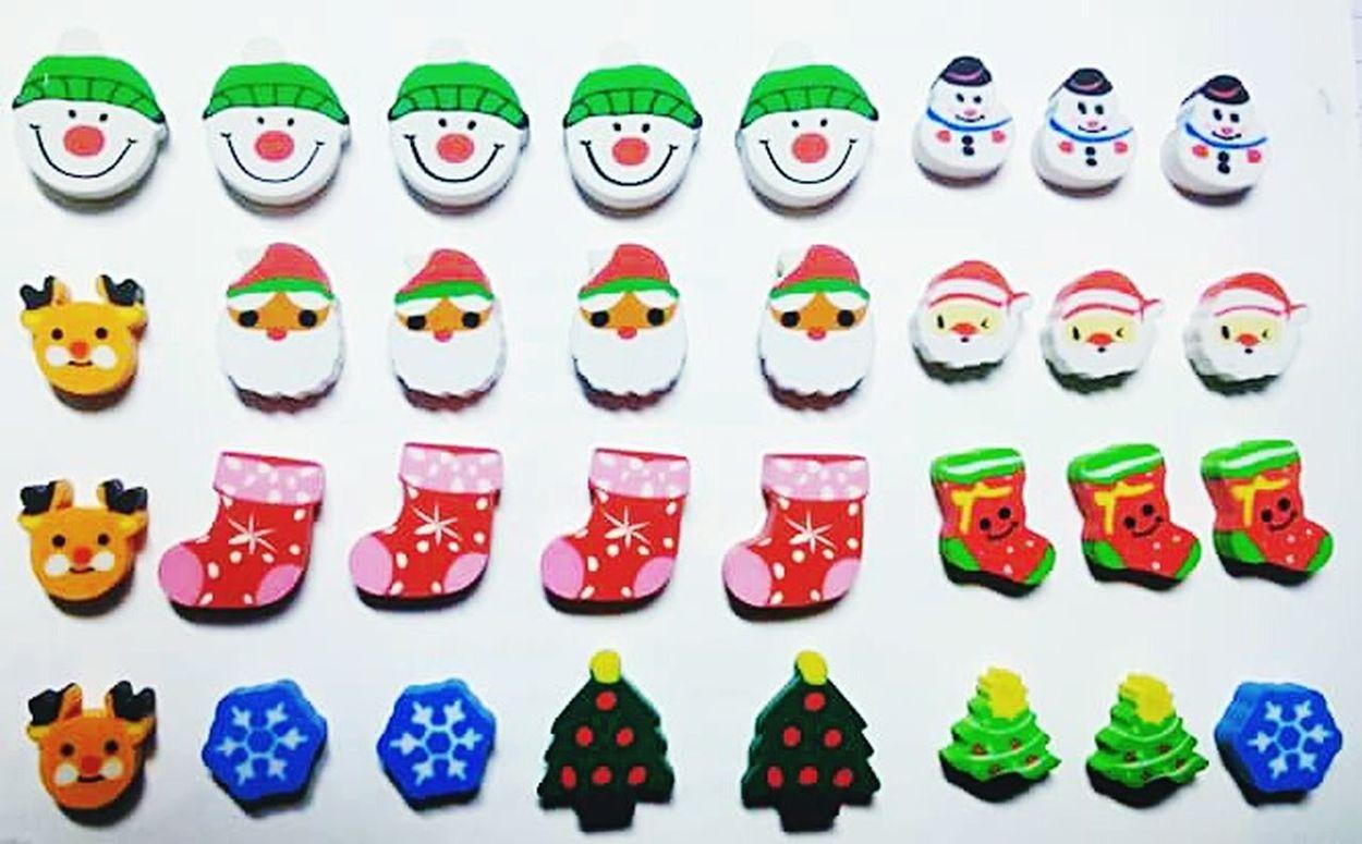 Eraser Things Christmas Santa Socks Snowman