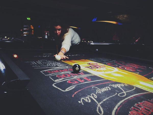 Aim it good Vscocam IPhoneography Pooltable Irishpub Night Out Playing Snooker Snookerbar