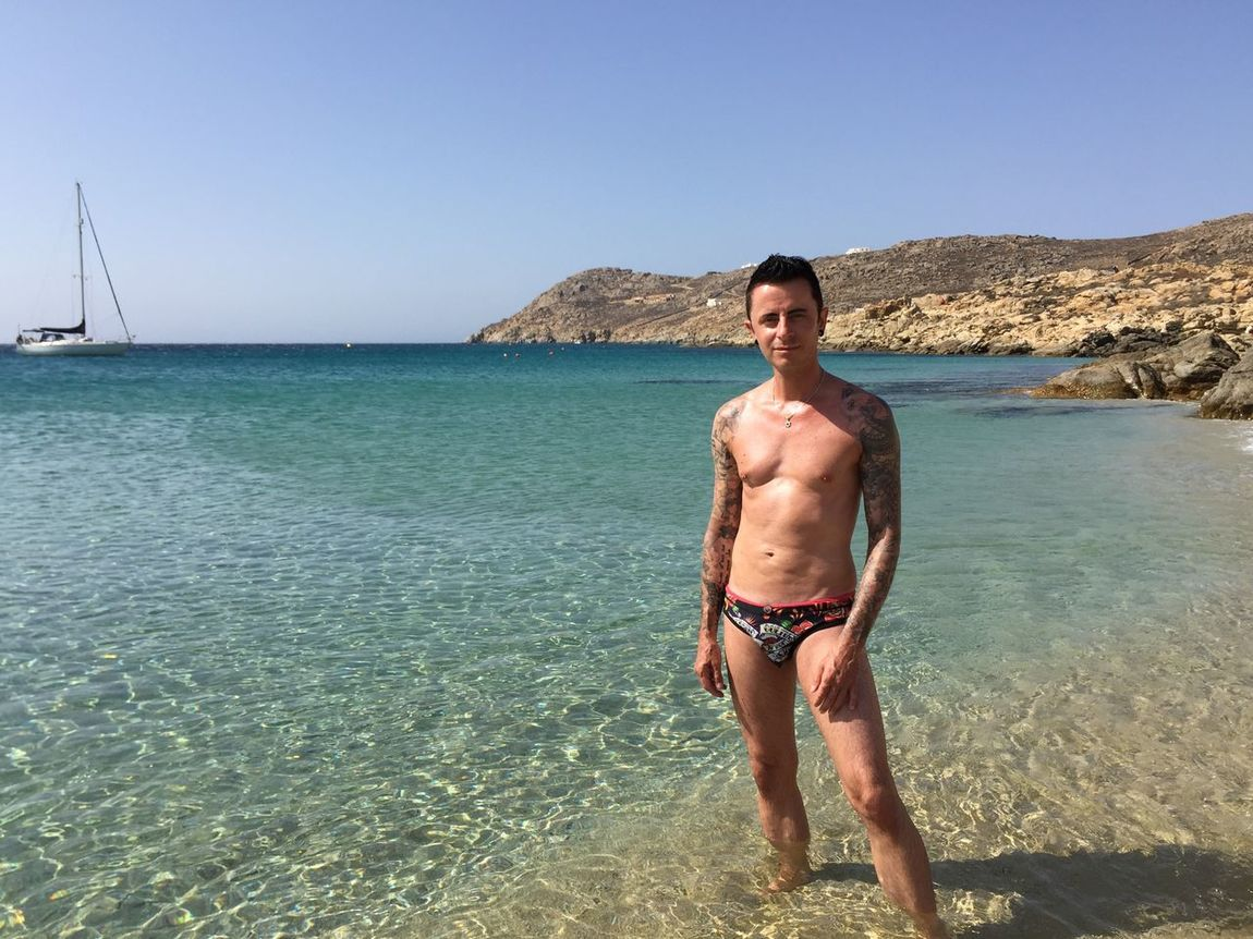 Mykonos,Greece Gaymen Gayboys Gayboy Gay Tattooed Tattoos Inked Inkedboys