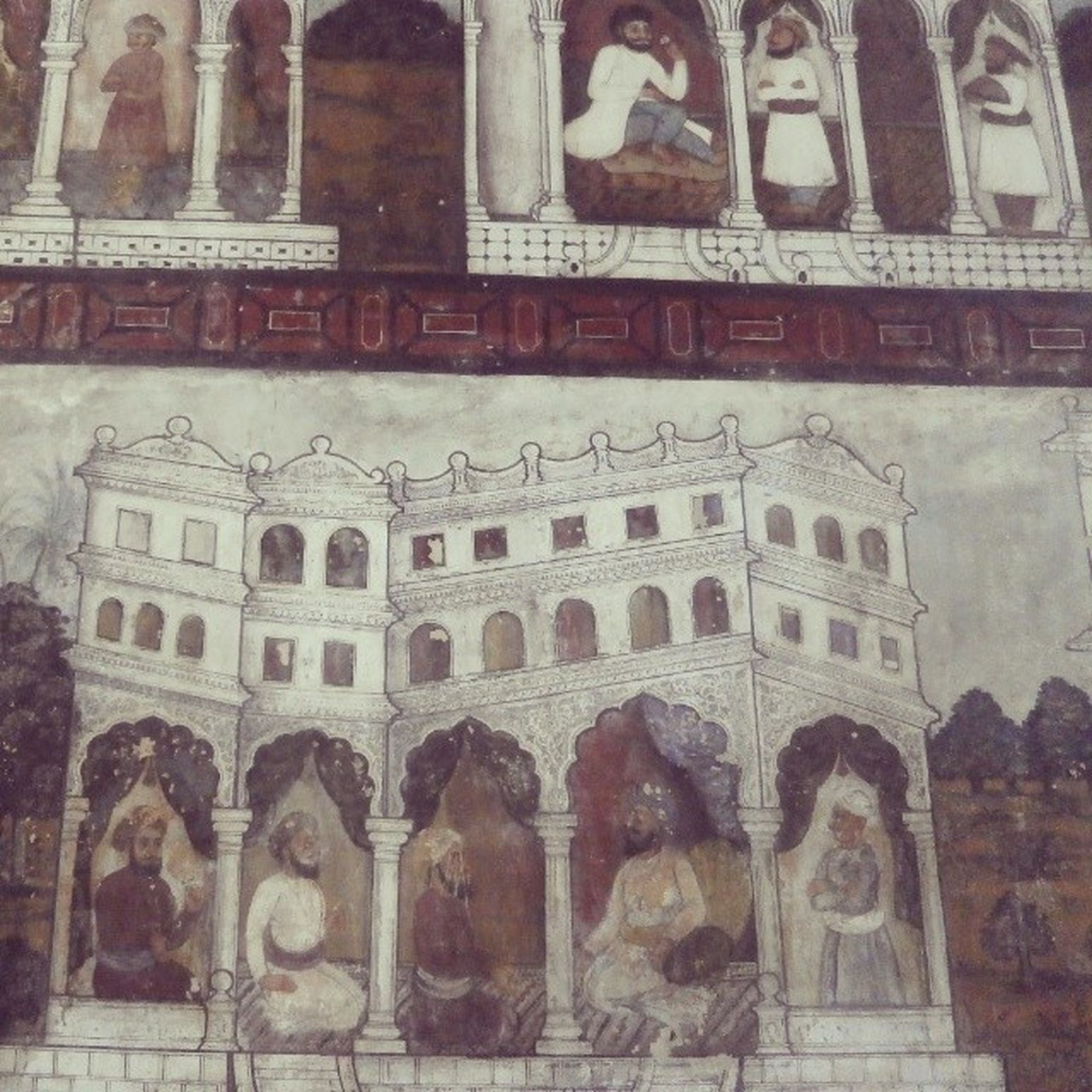 Tipusultan Palace Art on wall