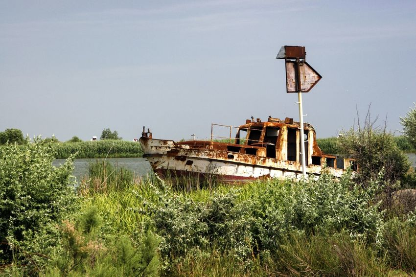Danube DanubeDelta Sulina WreckedShip Abandoned Clear Sky Damaged Danube România Danube Delta ,romania Danube River Day Grass Mode Of Transport Nautical Theme Nautical Vessel No People Outdoors Plant Rusty Sky Transportation Wrecked Wrecked Boat.