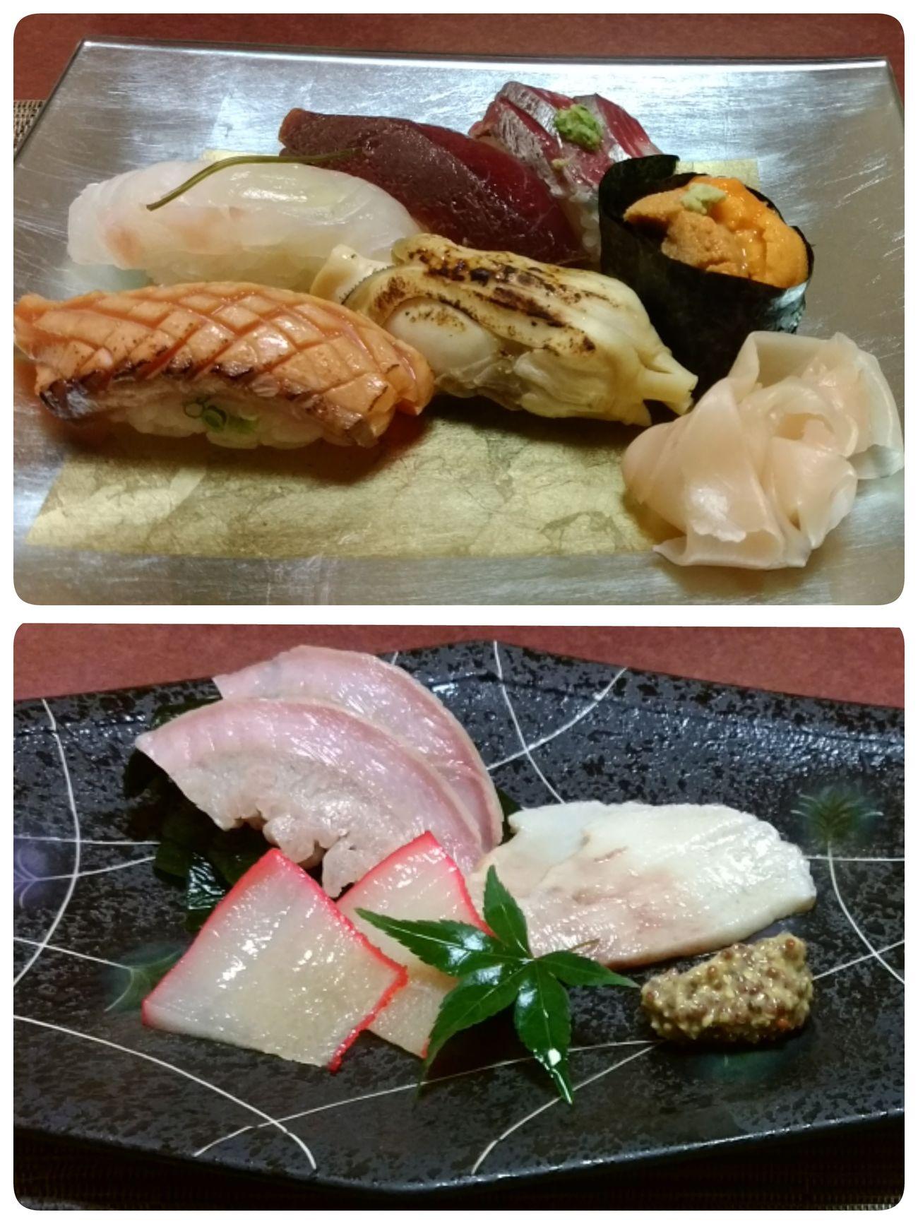 おすし やさん ニガテなくじら 食べれた(๑´ㅂ`๑)✨お高いコース✴ゴチそぅさまでした♡ Nagasaki Japan ちとせ鮨 おおむら