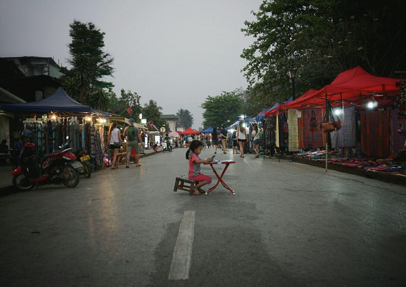 Lungprabang Walking Street Enjoying Life Hello World Laos
