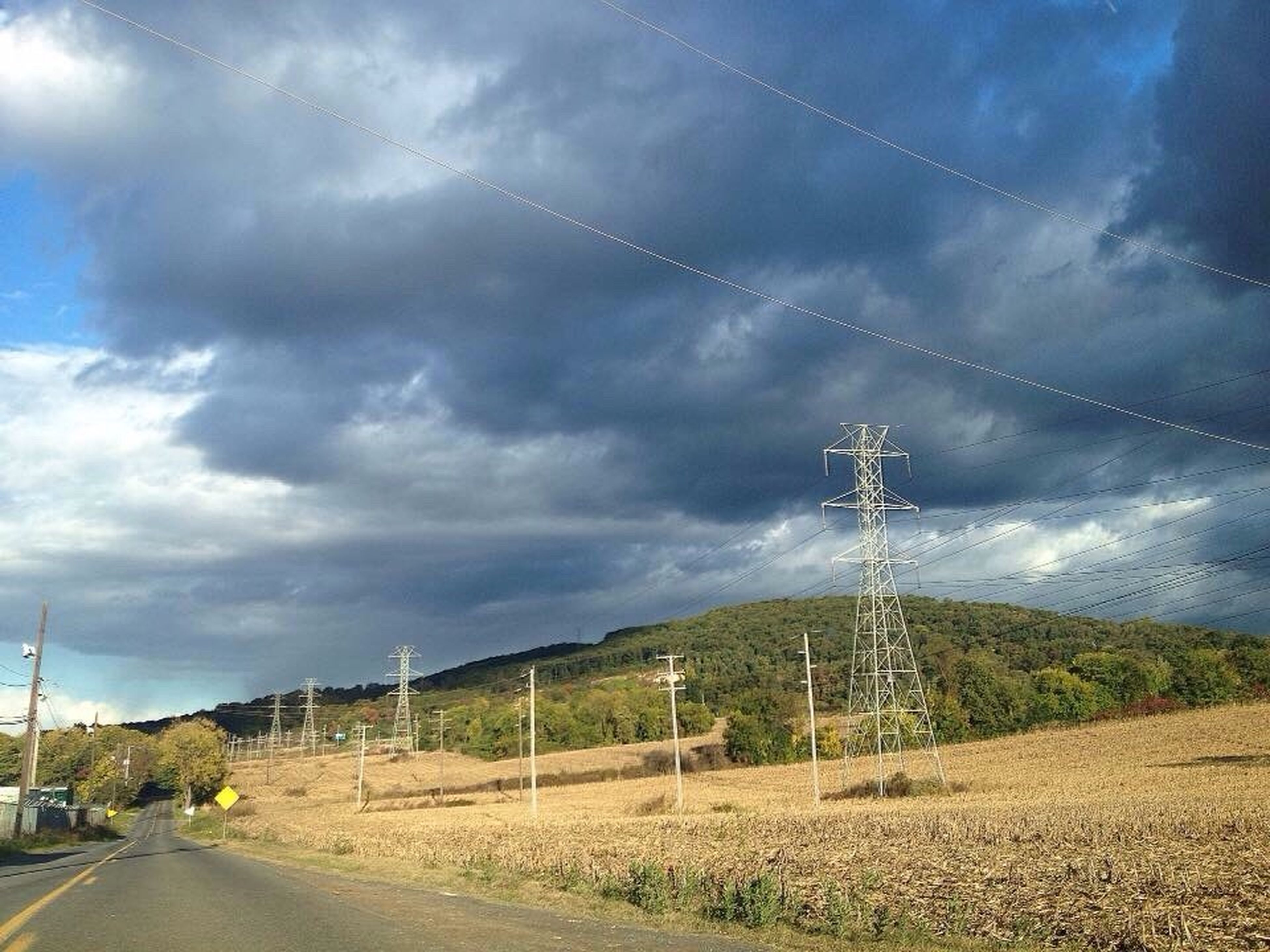 cable, electricity pylon, electricity, connection, power line, power supply, sky, day, no people, fuel and power generation, landscape, field, nature, tranquility, tranquil scene, cloud - sky, outdoors, transportation, scenics, tree, technology, telephone line, beauty in nature, vapor trail