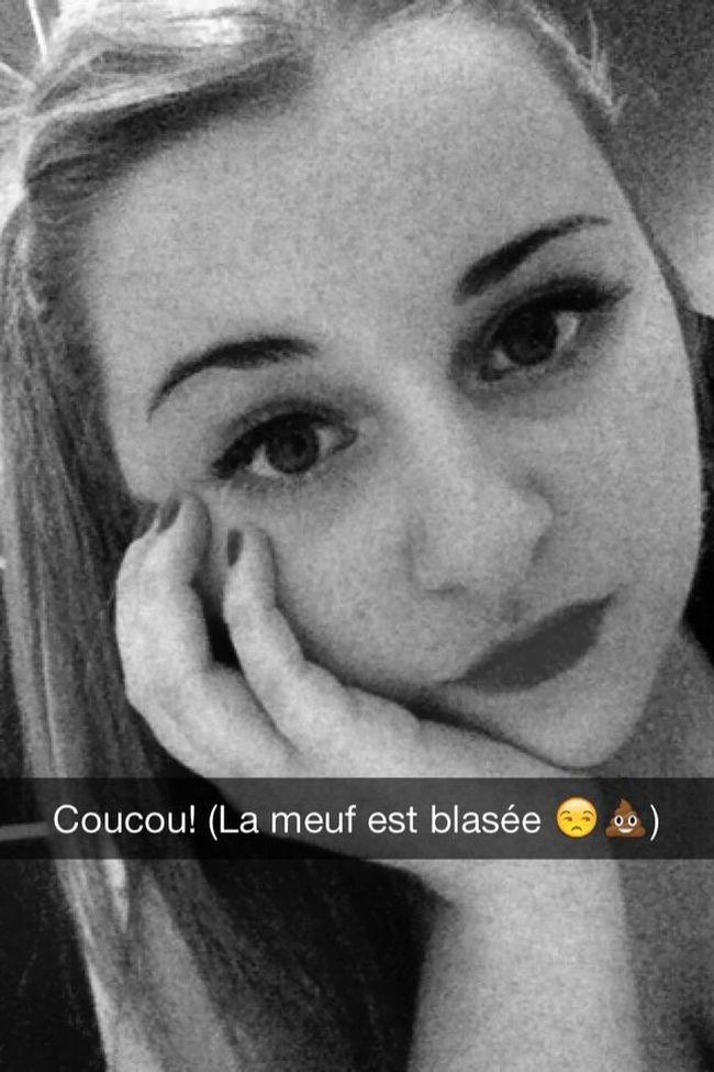 Snapchat Selfie Blasée