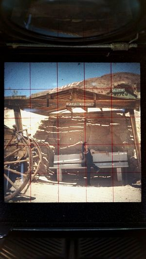 Through the looking glass Tlr Yashica Mediumformat Calico Ghost Town DesertPats Hideout