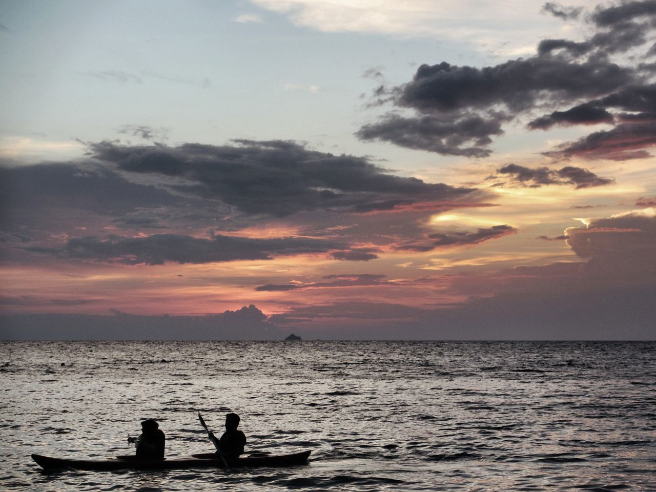 Together before the dawn Sunset Sea Silhouette Sky Scenics Cloud - Sky Sun Outdoors Beauty In Nature Nature Ocean View Canoeing Canoes Travel Travel Photography Holidays Kayaking In Nature Malaysia