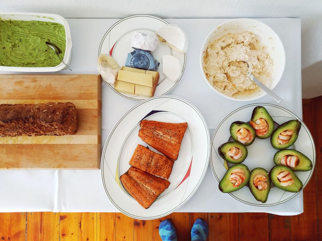 High Angle View Brunch Avocados Avocado Chrimp Seafood Madness Buffet Breakfast Top View Delicious Food And Drink Bread Table Healthy Eating Directly Above Food Serving Size Toasted Bread Sweet Food Freshness No People Ready-to-eat Indoors  Organized Neatly Cheese