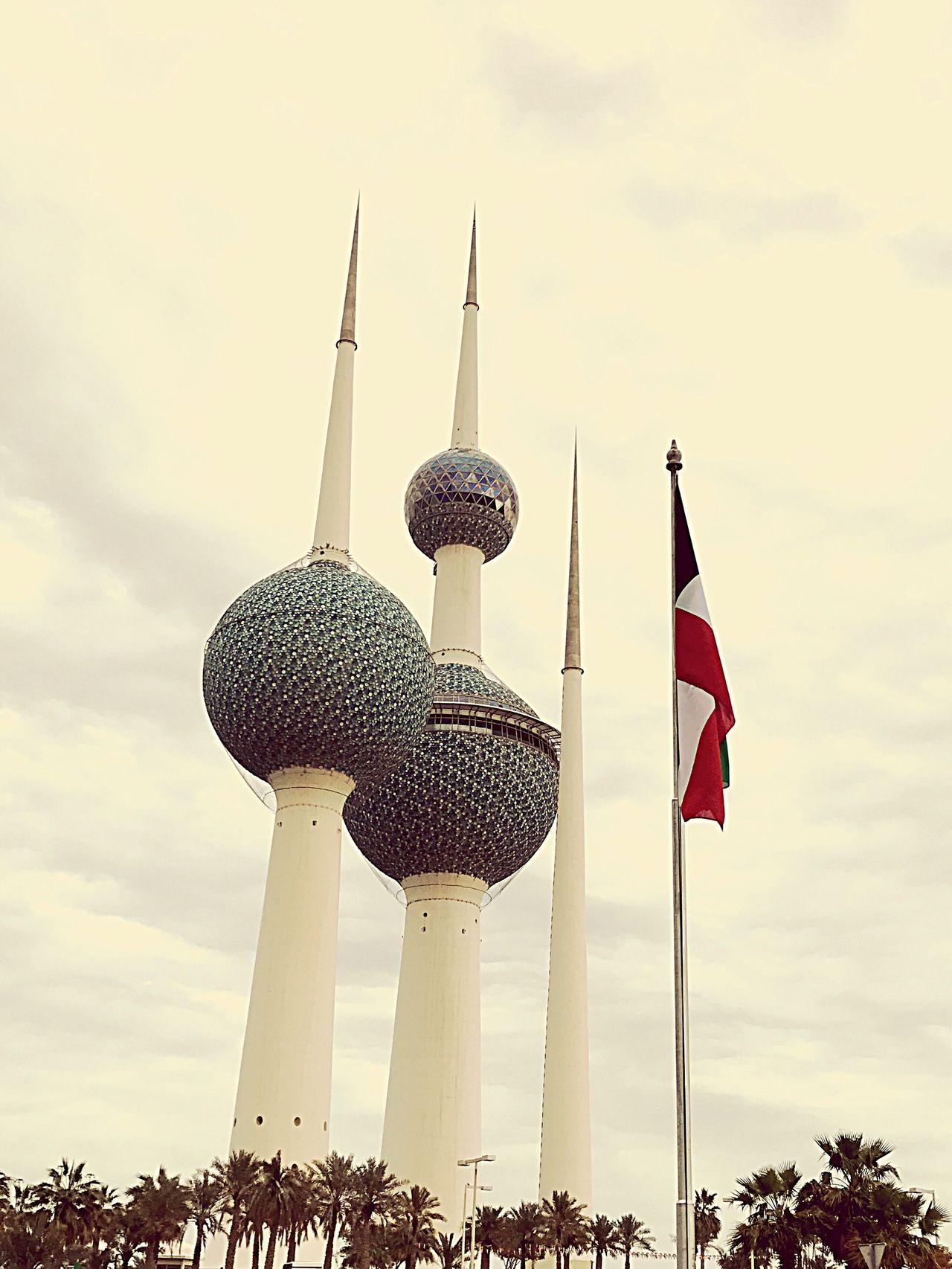 Eye4photography  Sky Architecture EyeEm Kuwait Travel Destinations Kuwait Towers