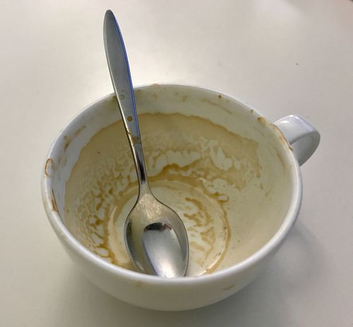 Coffee Cup Coffee Cup High Angle View Dirty Used Food And Drink Drink Kaffee