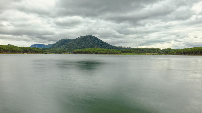 Cloud - Sky Lake Scenics Water Mountain Nature Reflection Outdoors Landscape Tranquility No People Sky Day Beauty In Nature Tree Dalat - Vietnam Perspectives On Nature