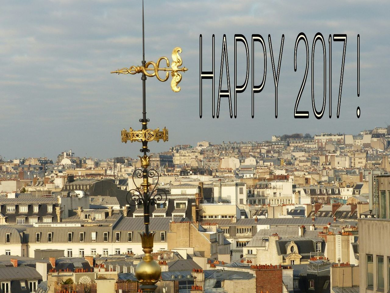 Happy New Year 2017 New Year Best Wishes To Everyone! Bonne Annee 2017 Paris Je T Aime Parisisforlovers Cityscape Over The Roofs