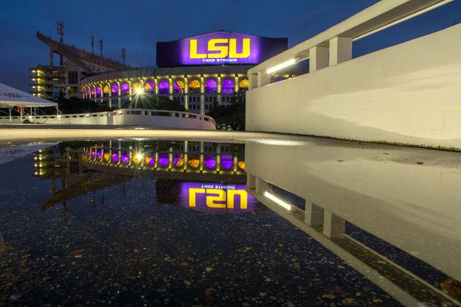 Architecture Illuminated Men Night Sign Text Walking Women
