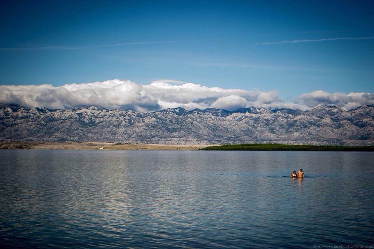 Sea Mountains Croatia Mirror Water Reflections